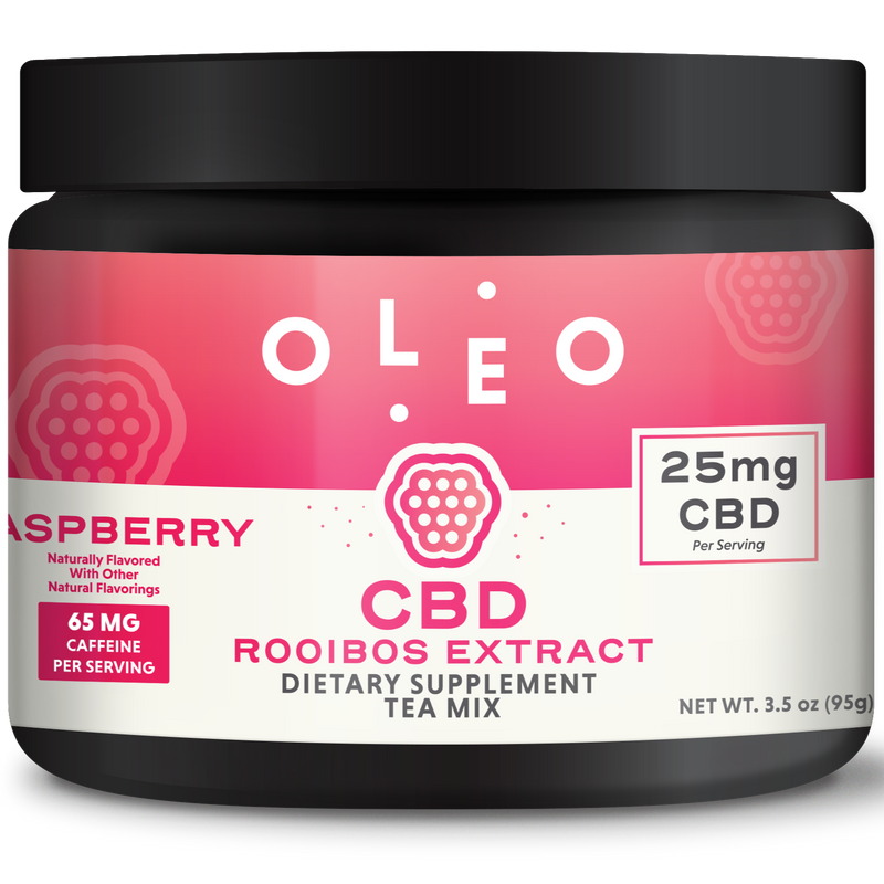 Raspberry Rooibos CBD Tea Mix - Stone & Leaf CBD