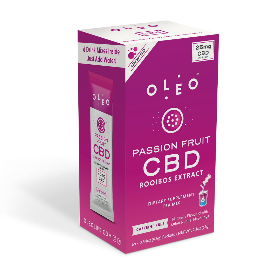 Passion Fruit CBD RooibosTea Mix - 6 Packets - Stone & Leaf CBD