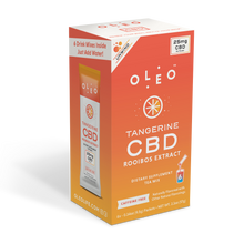 Load image into Gallery viewer, CBD Products: Tangerine Rooibos CBD Tea Mix - 6 Packets - Stone & Leaf CBD