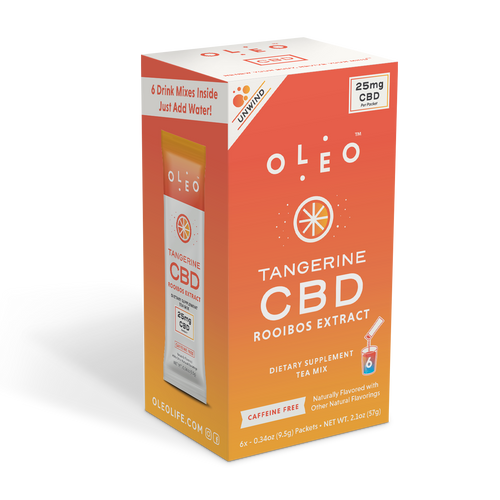 CBD Products: Tangerine Rooibos CBD Tea Mix - 6 Packets - Stone & Leaf CBD