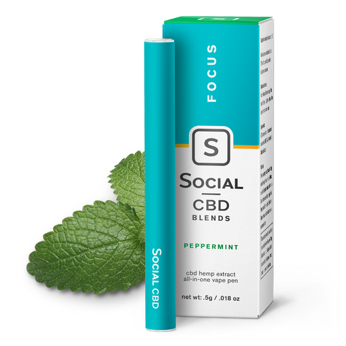 Focus - Peppermint Vape Pen CBD Product - Stone & Leaf CBD