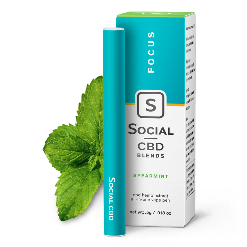 Focus | Spearmint Vape Pen 250mg - Stone & Leaf CBD