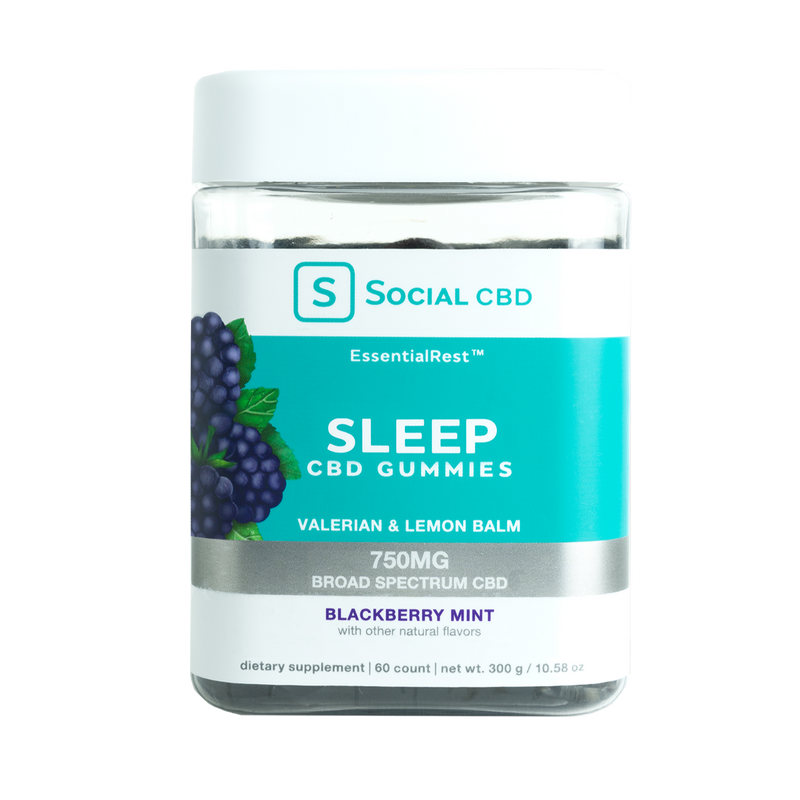 Sleep CBD Gummies Blackberry Mint - Stone & Leaf CBD