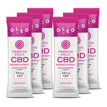 Load image into Gallery viewer, Passion Fruit CBD RooibosTea Mix - 6 Packets - Stone & Leaf CBD