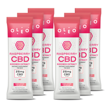 Load image into Gallery viewer, Raspberry CBD RooibosTea Mix - 6 Packets - Stone & Leaf CBD
