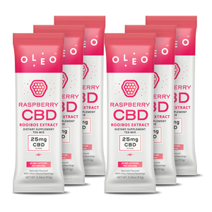 Raspberry CBD RooibosTea Mix - 6 Packets - Stone & Leaf CBD