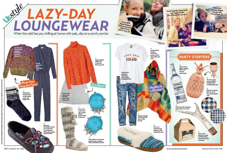 TOLANI RED HOODIE FEATURED IN US WEEKLY