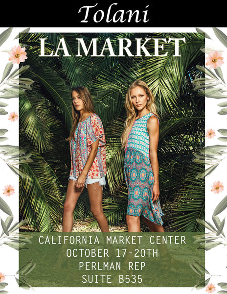 JOIN US @ LA Market// OCT 17-20 // PERLMAN REP SHOWROOM // STE B535