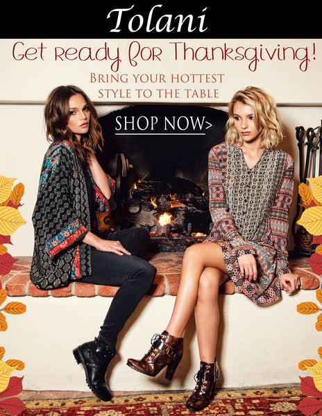 Bring your hottest style to the table! Tolani's Thanksgiving picks