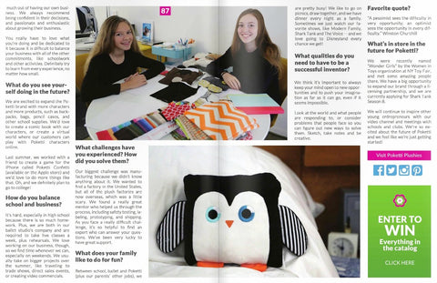 Best in Baby Biz Magazine Poketti Interview