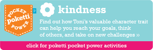 Toni the Bunny Poketti Pocket Power Kindness