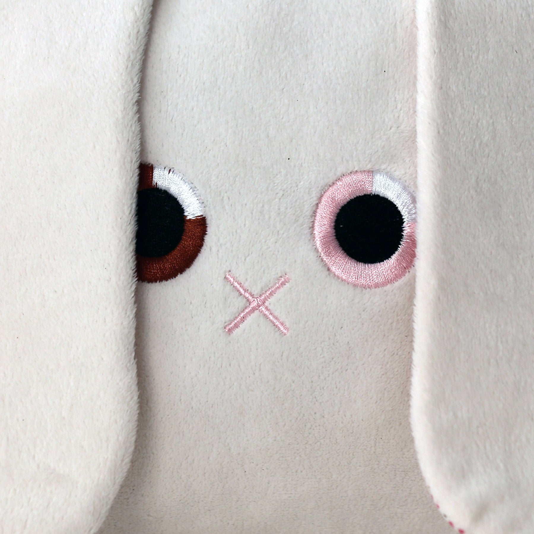Poketti Bunny Rabbit Plush Pillow with a Pocket - Embroidered Eyes