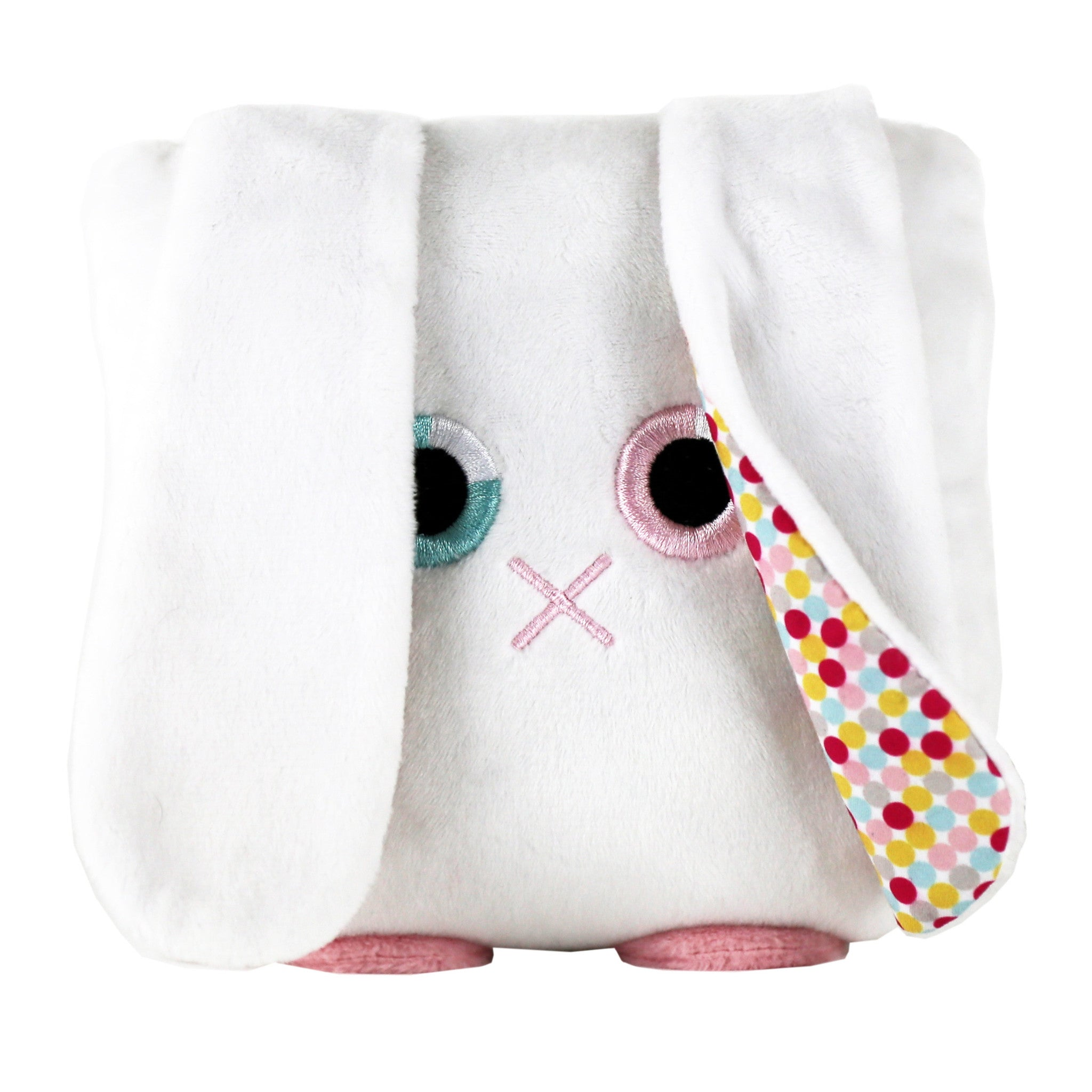 Plush rabbit stuffed animal bunny toy with a useful back pocket