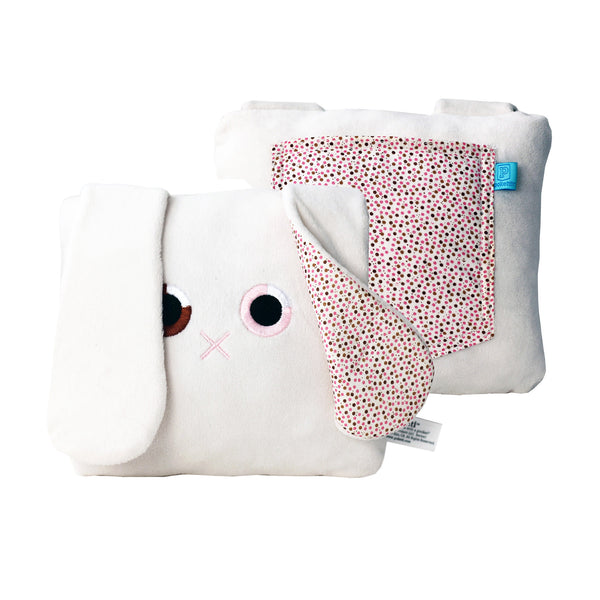 Poketti Bunny Rabbit Plush Pillow with a Pocket