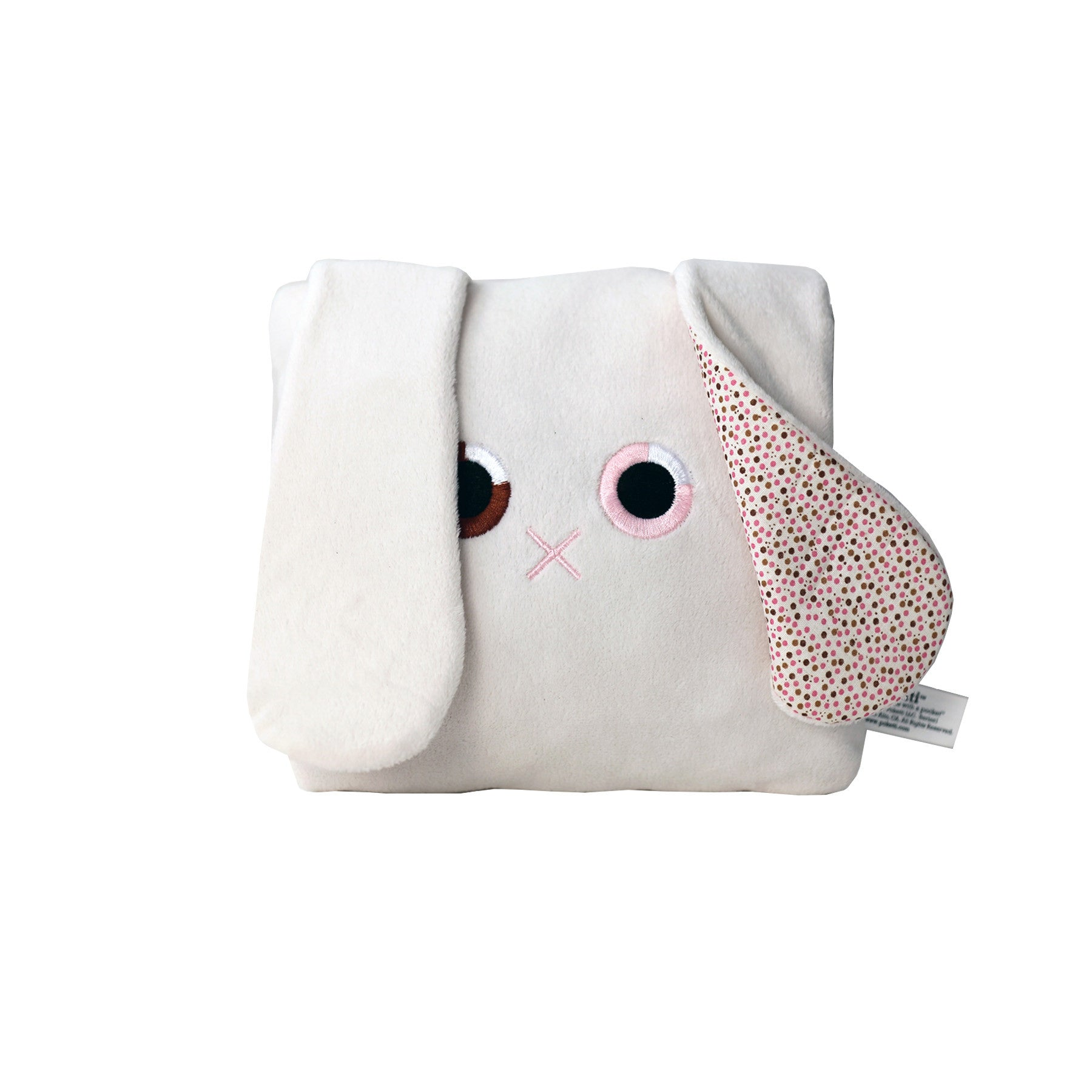 Poketti Bunny Rabbit Plush Pillow with a Pocket - Front