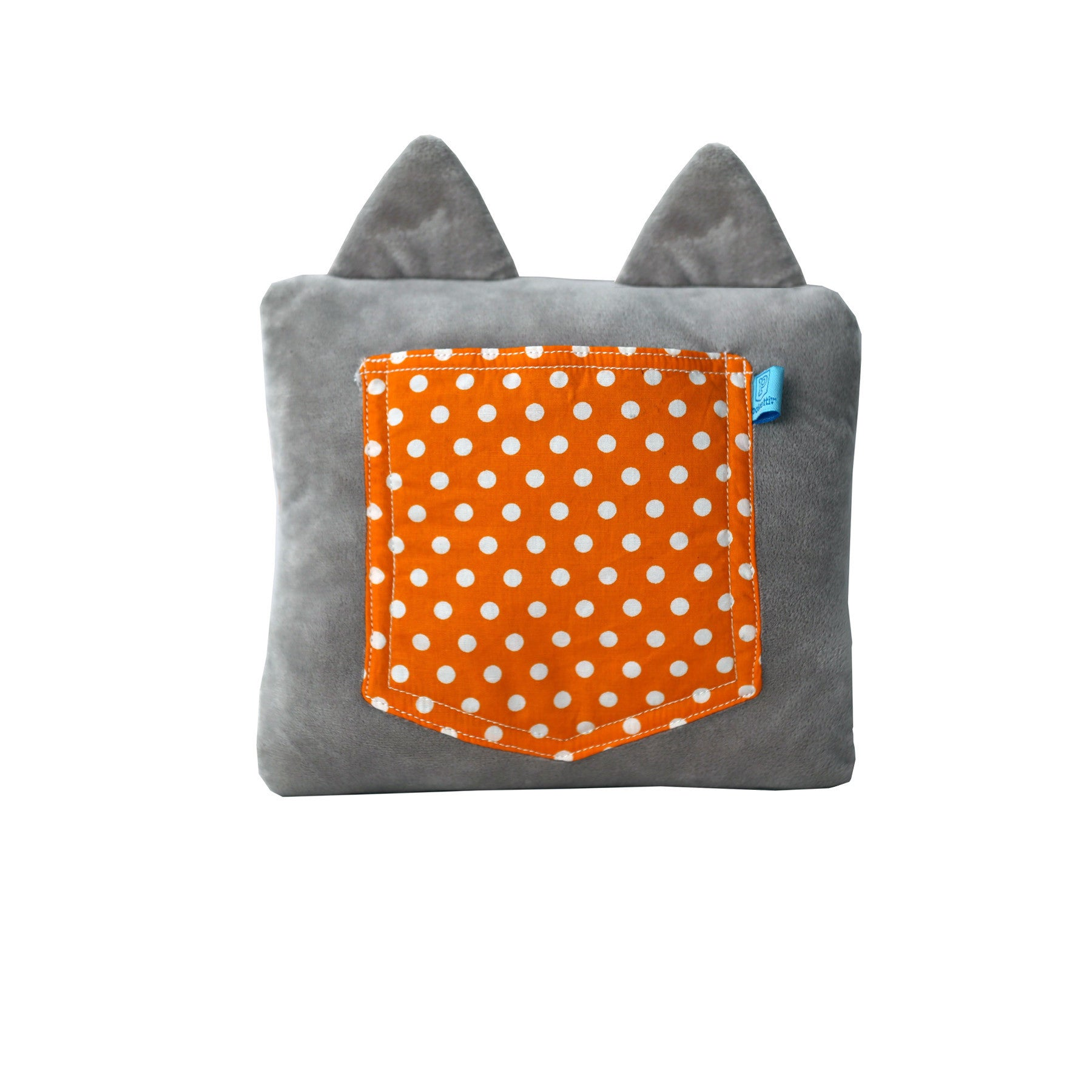 Poketti Kitty Cat Plush Pillow with a Pocket - Back