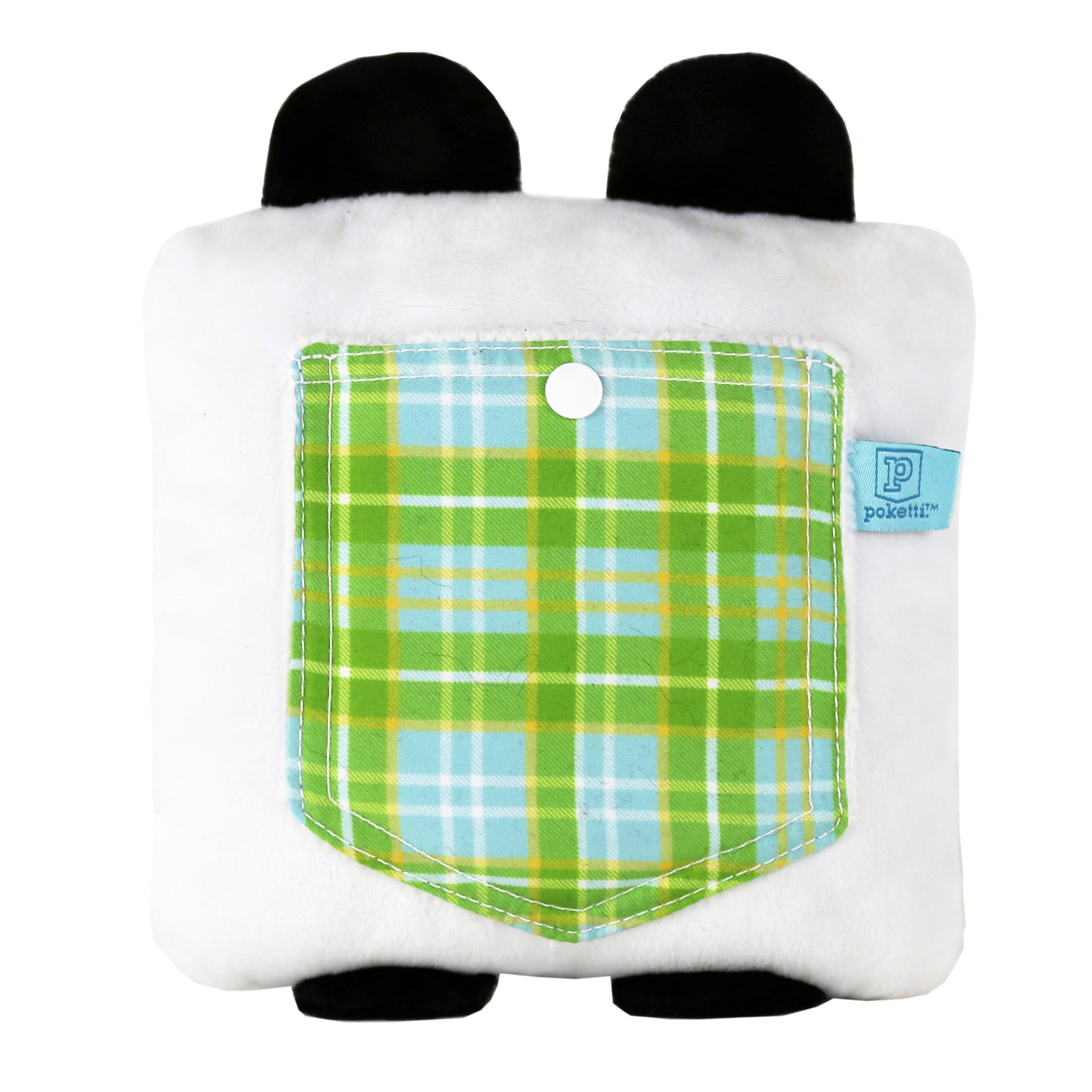 Plush toy panda bear stuffed animal bear with a useful back pocket