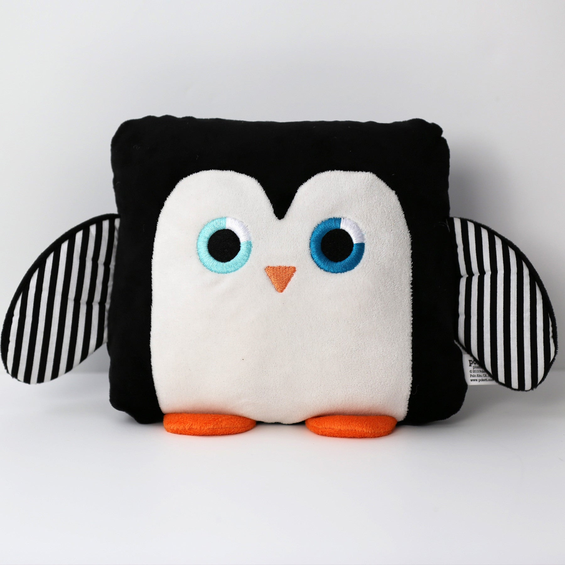 Poketti Penguin Bird Plush Pillow with a Pocket