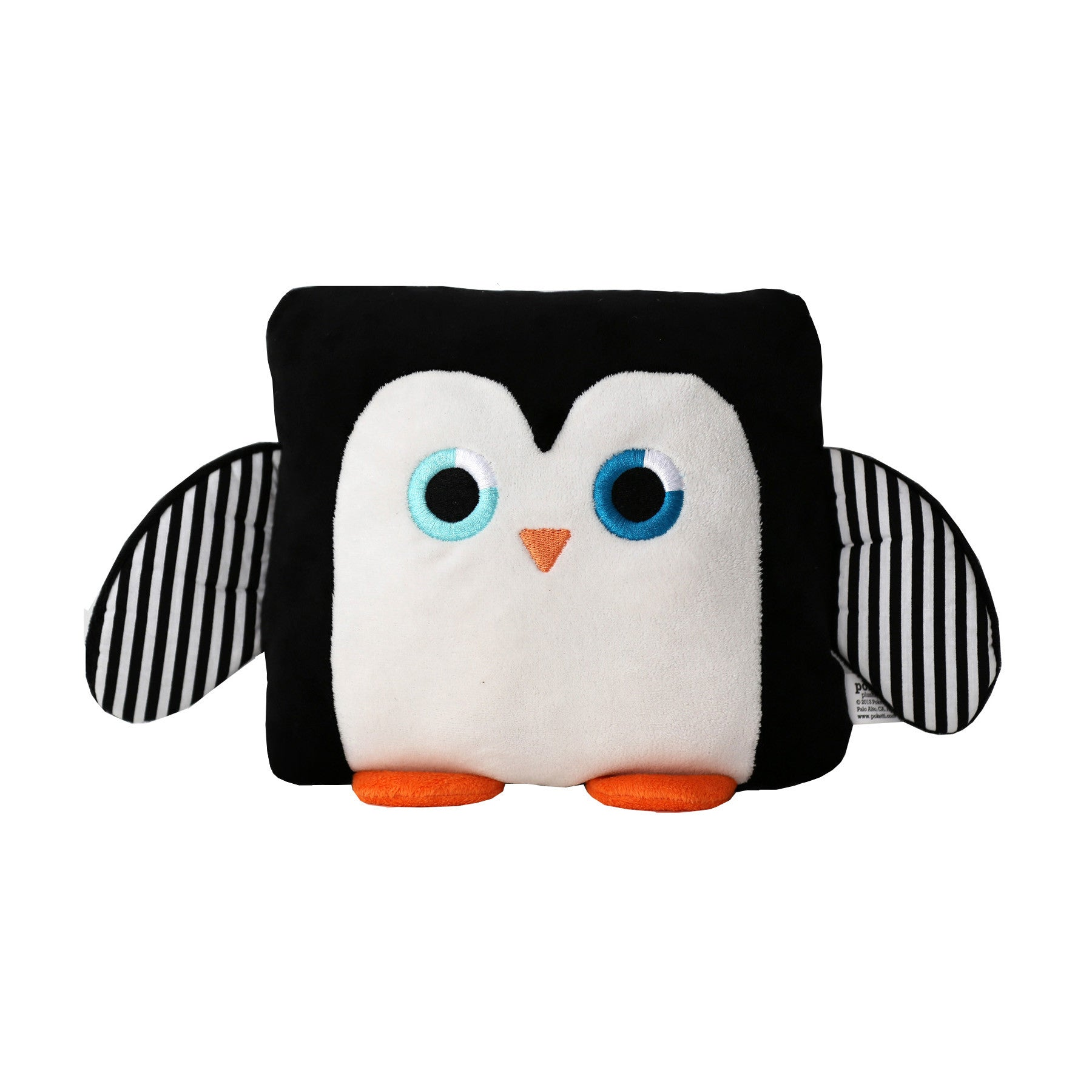 Poketti Penguin Bird Plush Pillow with a Pocket - Front