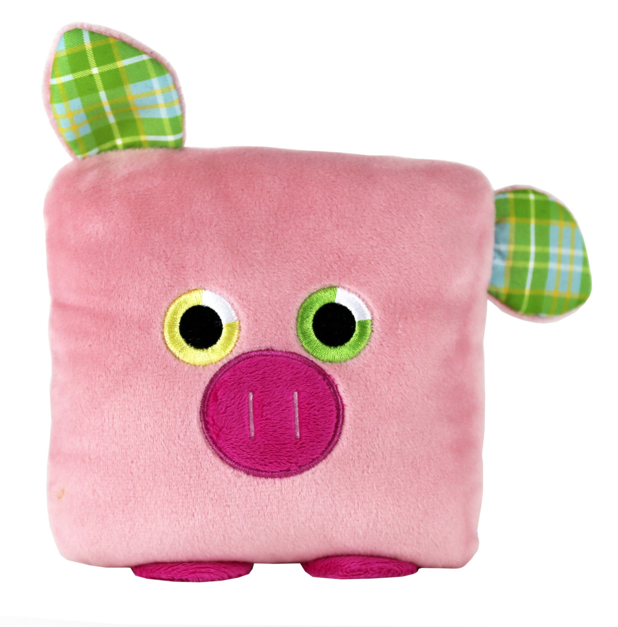 Plush toy pig stuffed animal with a useful back pocket