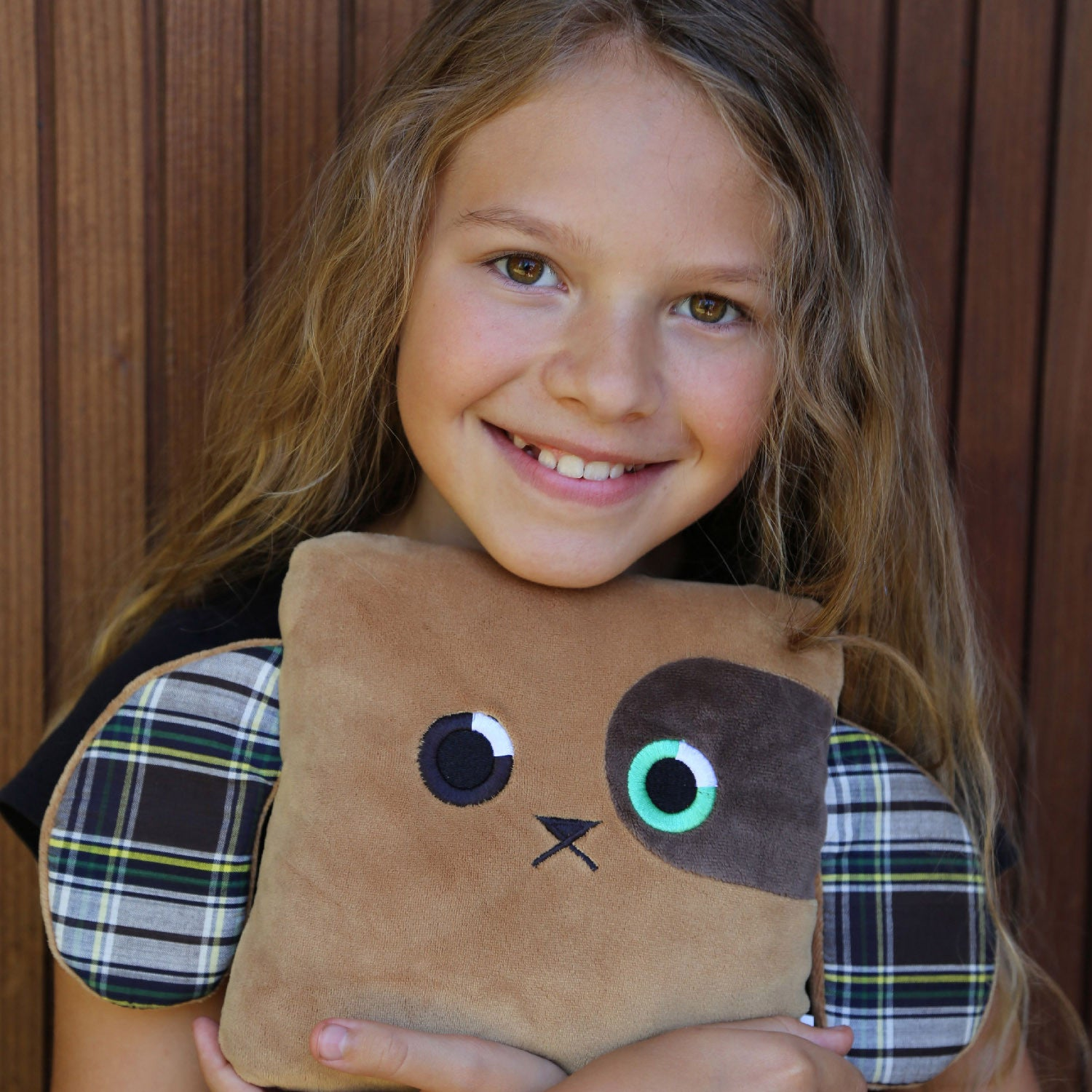 Poketti Puppy Dog Plush Pillow with a Pocket with Founder Toni Loew