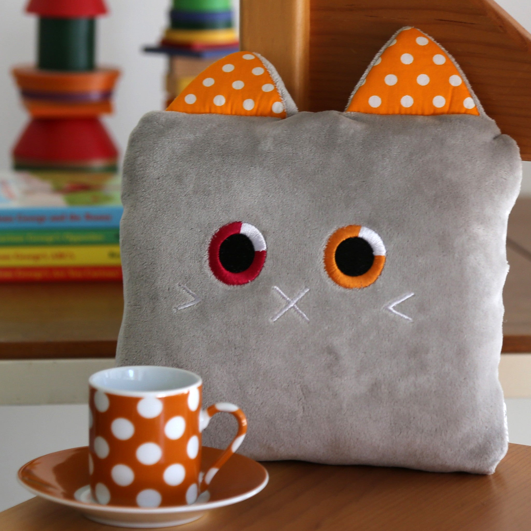 Poketti Kitty Cat Plush Pillow with a Pocket - A perfect gift