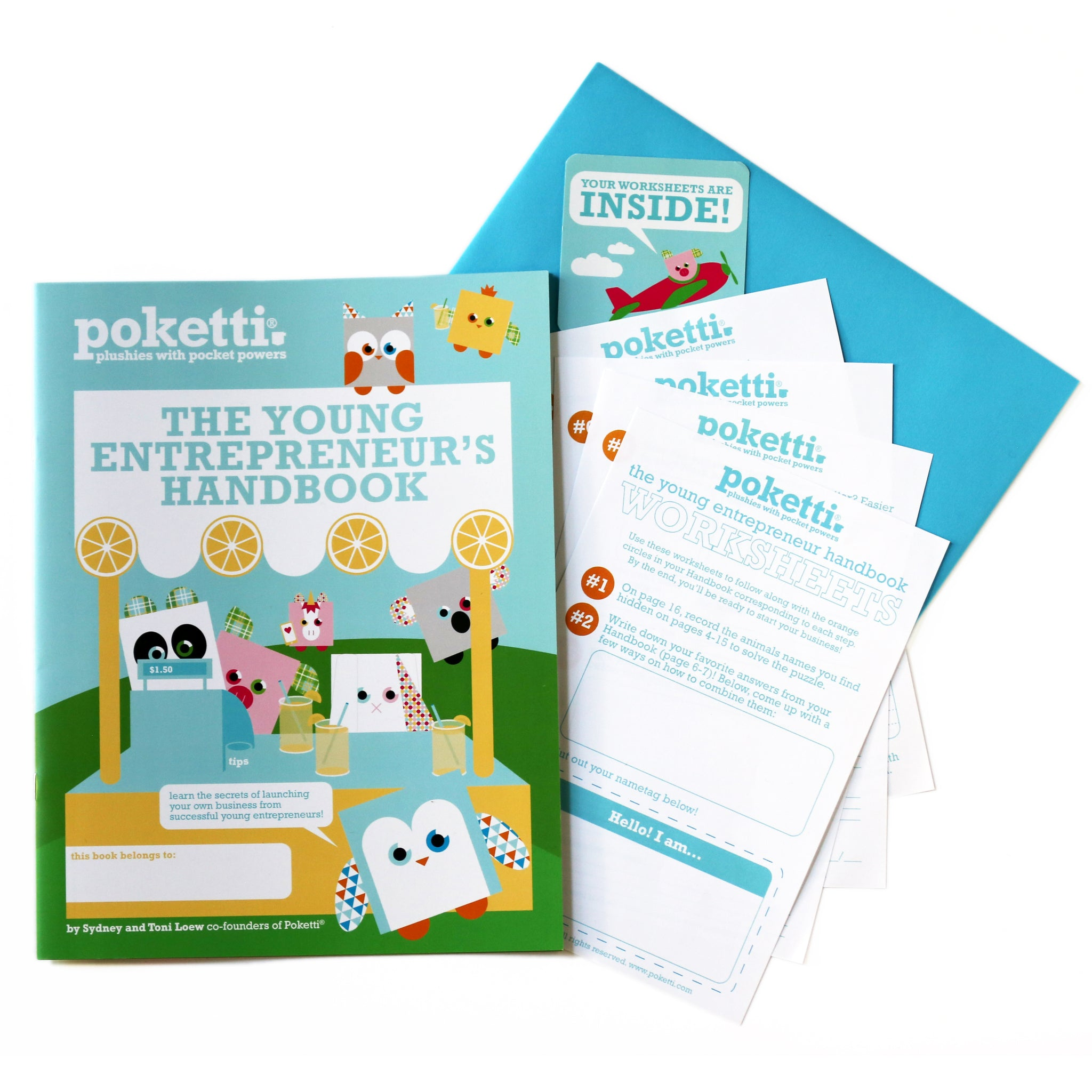 The Young Entrepreneur's Handbook Kit (includes one Poketti Plushie)