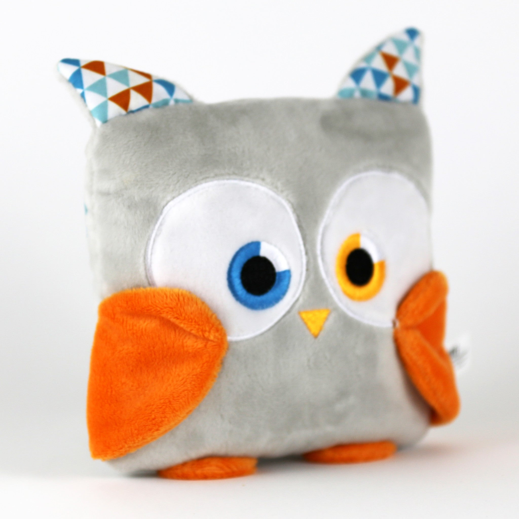 Poketti plush toy owl stuffed animal bird with a useful back pocket