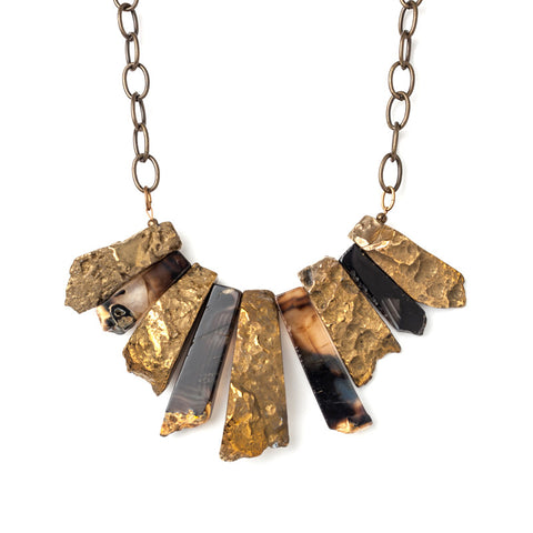 Agate-Gold & Black