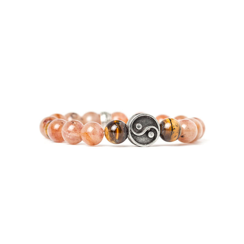 Peach Quartz & Tiger eye
