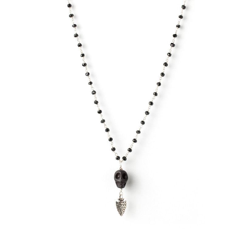 Black Spinel and Howlite
