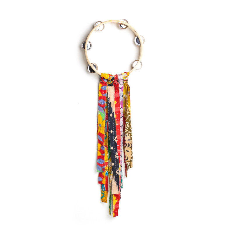 Colorful Fringe Tamborine