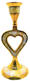 Brass Heart Candle Stand