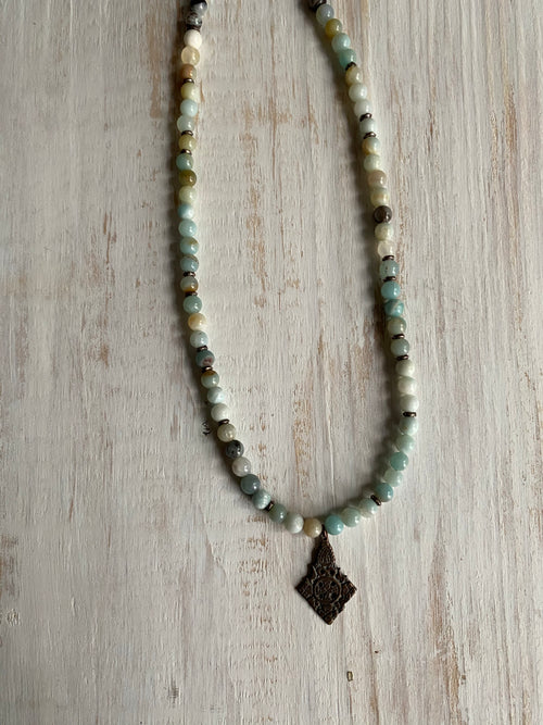 Amazonite Ethiopian cross