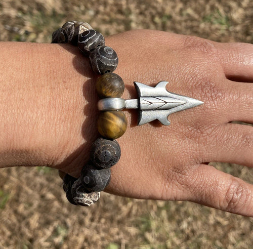 Protective Eye Agate and Tigers Eye Bracelet