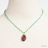 Green Onyx and Amethyst