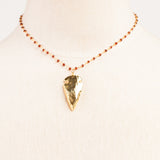 Garnet chain with arrow