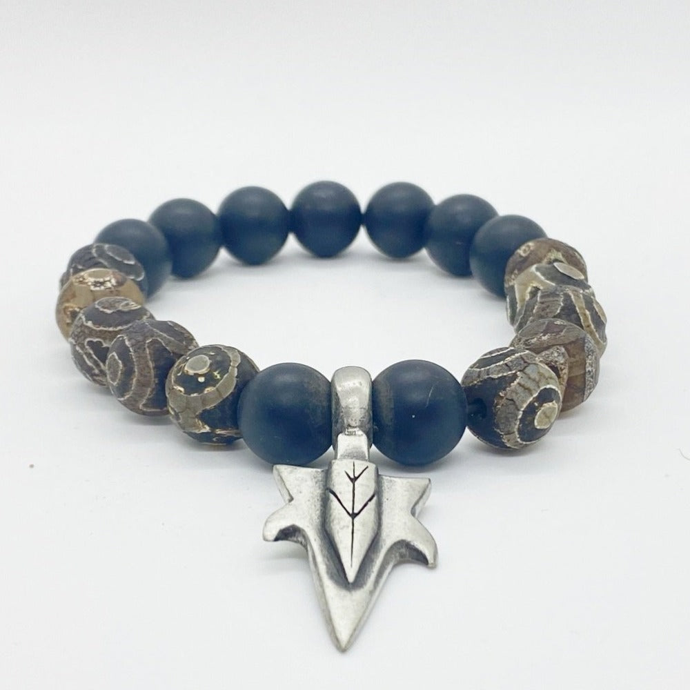 Protective Eye Agate and Onyx Bracelet