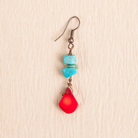 Coral and Turquoise