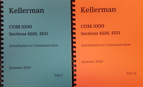 COM 1000 Kellerman Summer 2018