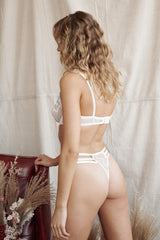Belvedere Thong Set White