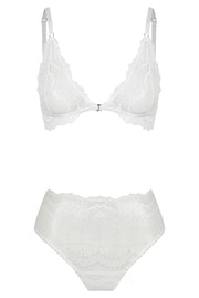Vienna High Waist Set White