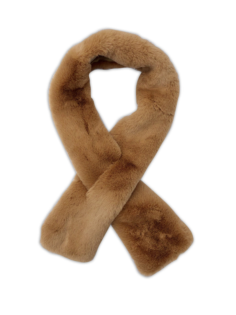 Luxe Faux Fur Pull-Through Scarf - more colors