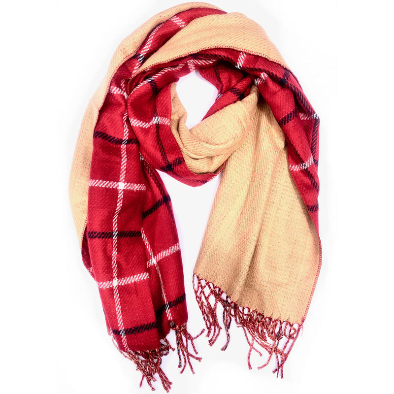 Normal Reversible Plaid Scarf