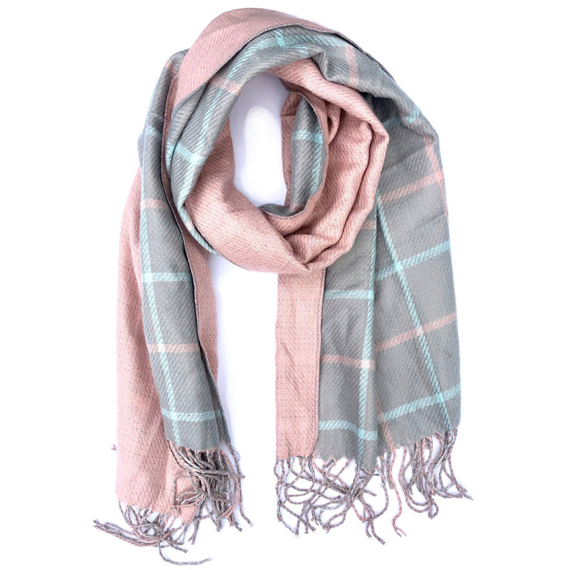 Pullman Reversible Plaid Scarf