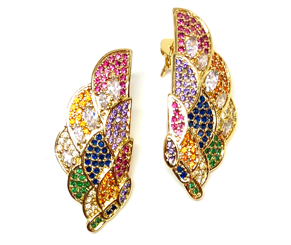 Pegasus Pave Earrings