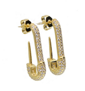 Pave Pin Earrings