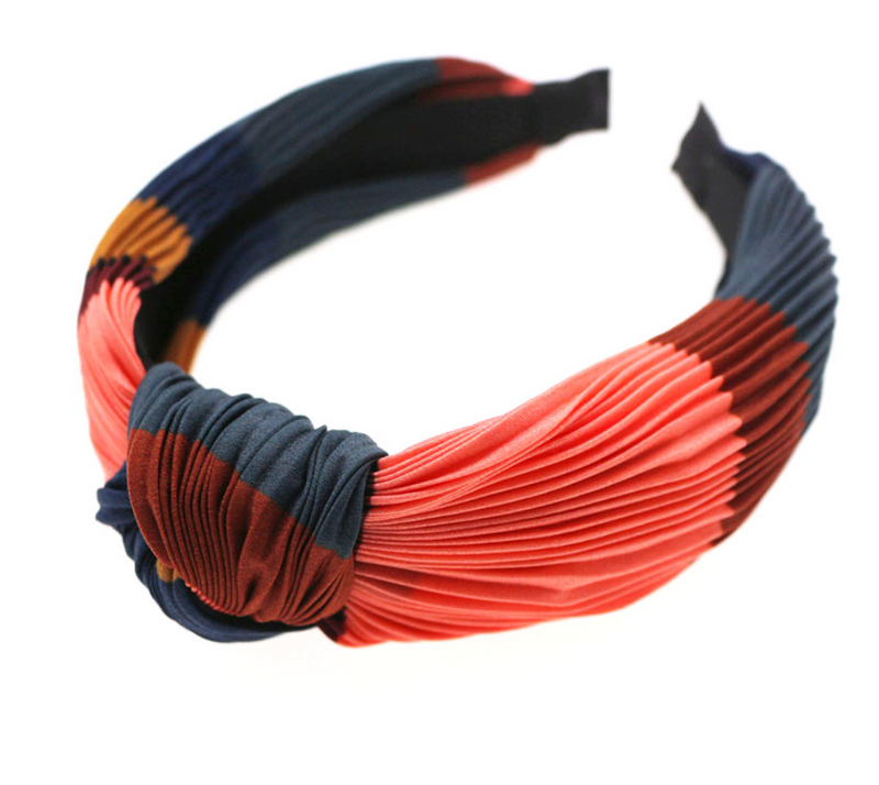 Satin Colorblock Knotted Headband