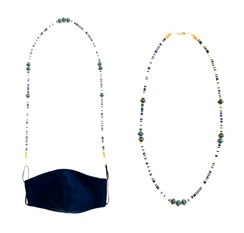 Forever in Blue Jeans -Convertible Mask Strap/Necklace