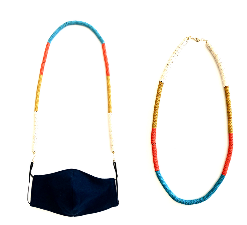 Santa Fe Sunset-Convertible Mask Strap/ Necklace